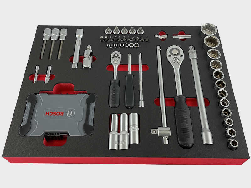 Werkzeugeinlage aus Schaumstoff - Shadowboard aus PE