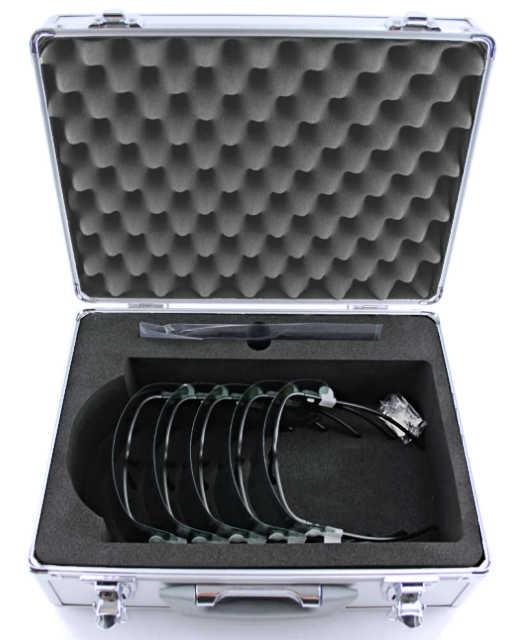 Aluminiumkoffer mit Schaumstoffeinlagen für empfindliche Medizinprodukte