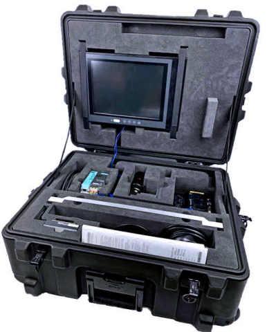 NOVAPOR Transportkoffer mit Schaumstoffeinlagen für Messinstrumenten